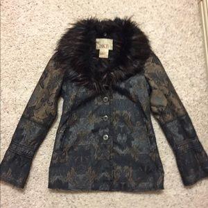BKE fur trim jacket